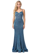 Load image into Gallery viewer, Harper Prom Gown Metallic Glitter Mermaid Prom Dress D-2698-OpalBlue