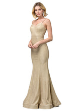 Load image into Gallery viewer, Harper Prom Gown Metallic Glitter Mermaid Prom Dress D-2698-Gold