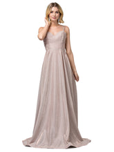 Load image into Gallery viewer, Janelle Prom Gown Metallic Sparkle Ballgown Prom Dress  D-2611-RoseGold