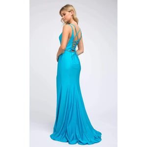 Lea Prom Gown Sweetheart Flared Skirt Prom Dress J-239-Turquoise