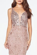 Load image into Gallery viewer, Mason Prom Gown Beaded Halter Neck Prom Dress C-CM9170-RoseGold