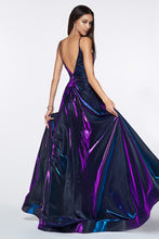 Load image into Gallery viewer, Melina Prom Dress Iridescent Spaghetti Strap Ballgown C506ER-Purple