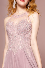 Load image into Gallery viewer, Bianca Prom Gown Lace Embroidered Top Chiffon Skirt Prom Dress G2690-Mauve