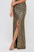 Load image into Gallery viewer, Kaia Leopard Print Prom Gown Strapless Front Slit Prom Dress M-202-Leopard