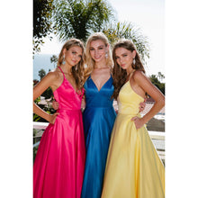 Load image into Gallery viewer, Paige Prom Gown Satin with Pockets Prom Dress J-230-Fuschia