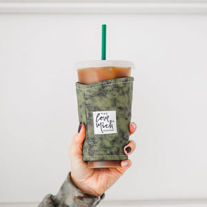Grunge (Olive) w/ CHARCOAL lining - Coffee Cozy - Love Mich Exclusive
