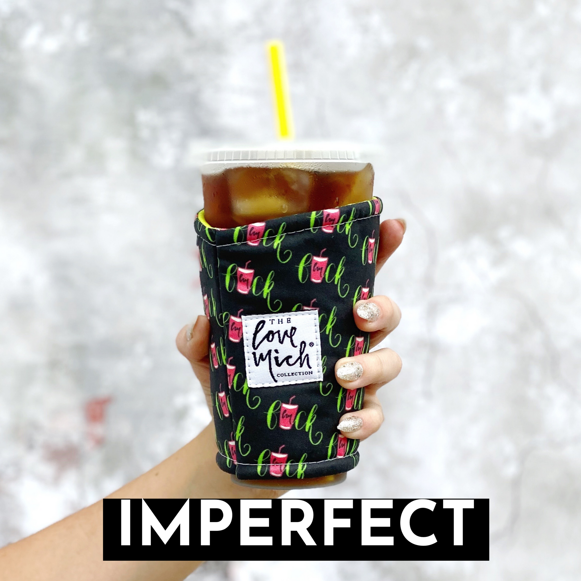 IMPERFECT - F@CK - Lime  - Coffee Cozy