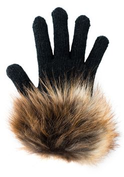 Fur Trimmed Tech Gloves