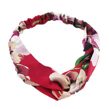 Load image into Gallery viewer, New Women Silk Flower Headband Flower Head Wrap Girl Hairbands Floral Print Hair Band Comfortable