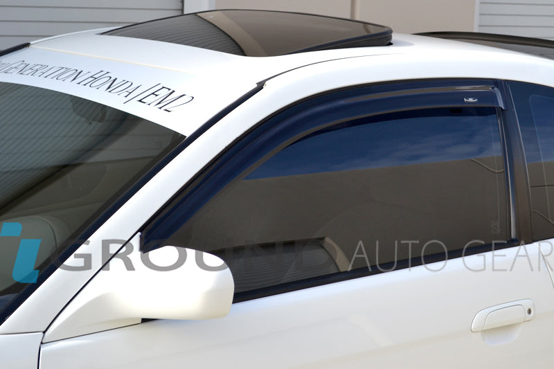 OB 01-05 CIVIC 2DR | HIC WINDOW VISORS