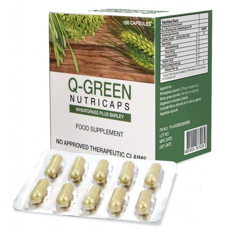 Q-GREEN NUTRICAPS with WHEATGRASS PLUS BARLEY CAPSULE