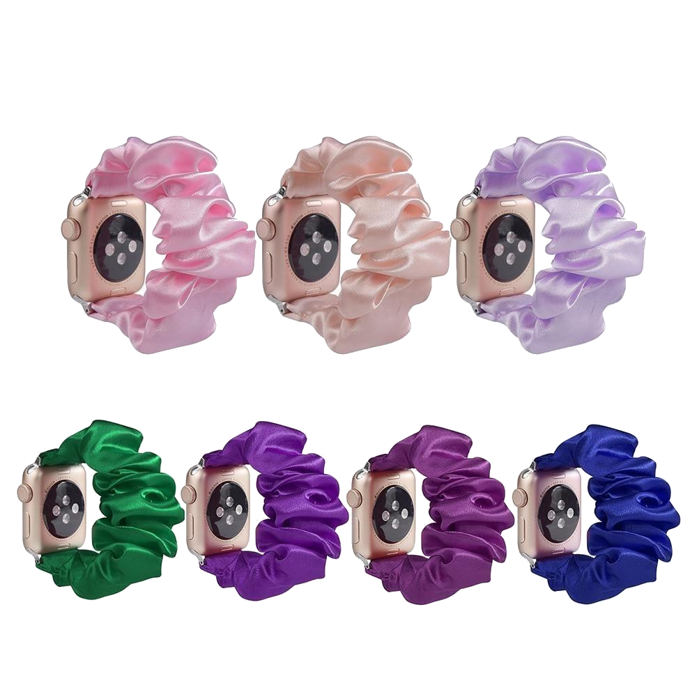 Silk Scrunchie Apple Watch Band - FancyBands.co