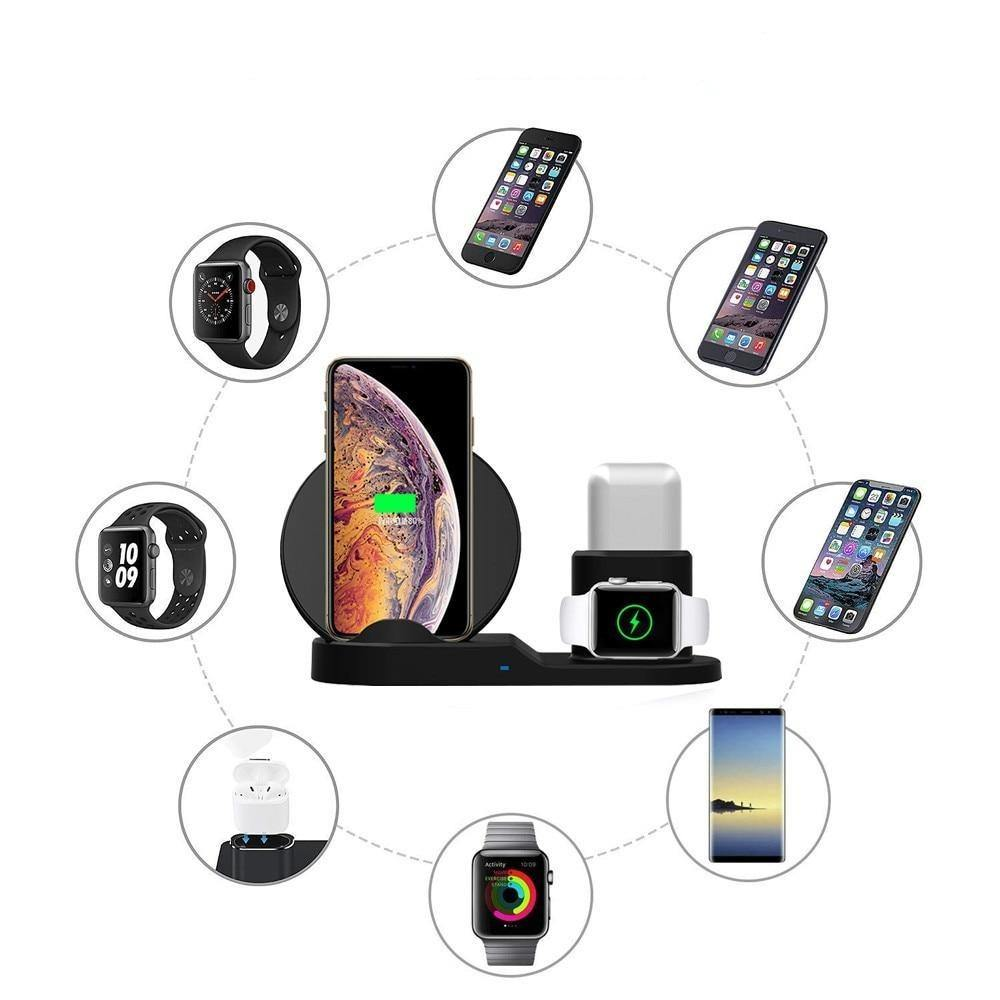 3 in 1 Fast Charger Charging Dock For iPhone, Apple Watch, and AirPods - FancyBands.co