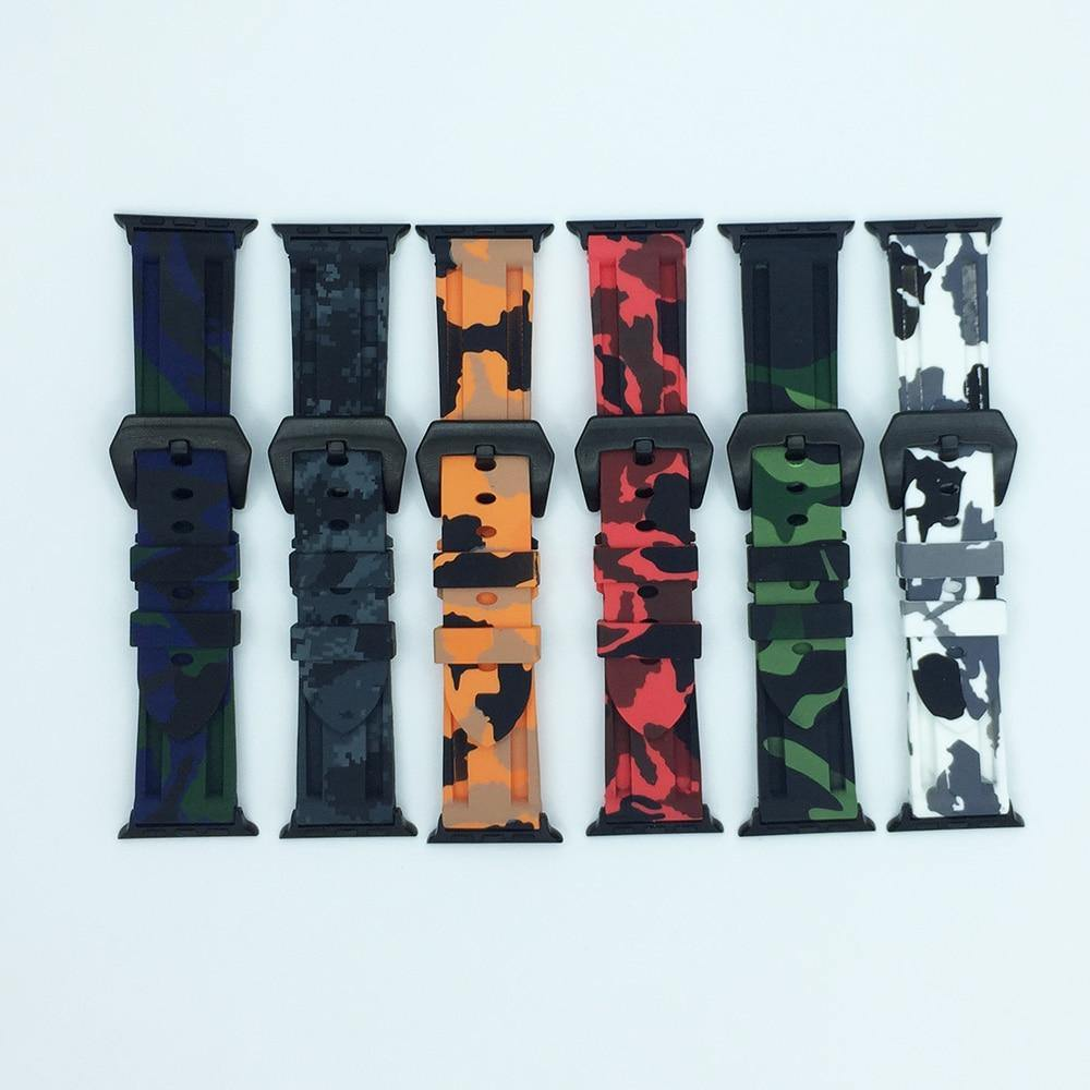 Camouflage Silicone Watch Band for Apple Watch - Fancy Bands