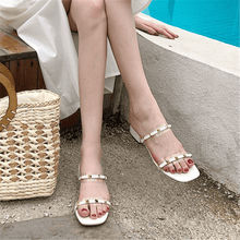 Load image into Gallery viewer, Fashion Wild Rivet Low Heel   Sandals