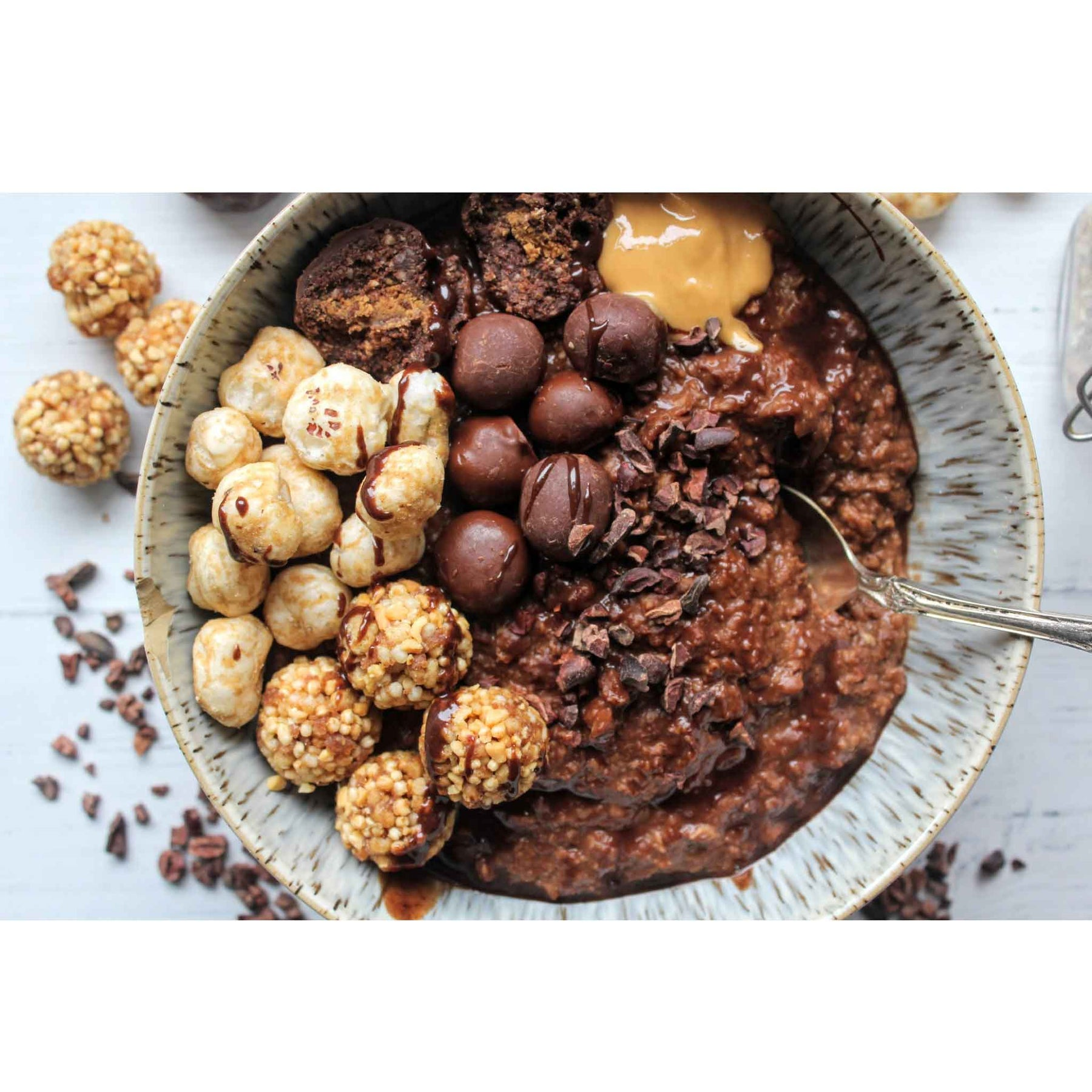 Recipes | Loaded Chocolate Porridge Bowl by Pamela Higgins