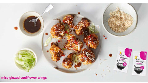 Miso glazed cauliflower wings