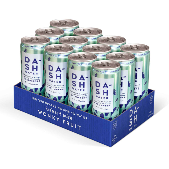 Dash Water - Cucumber (12 x 330ml) - Seltzer Waters