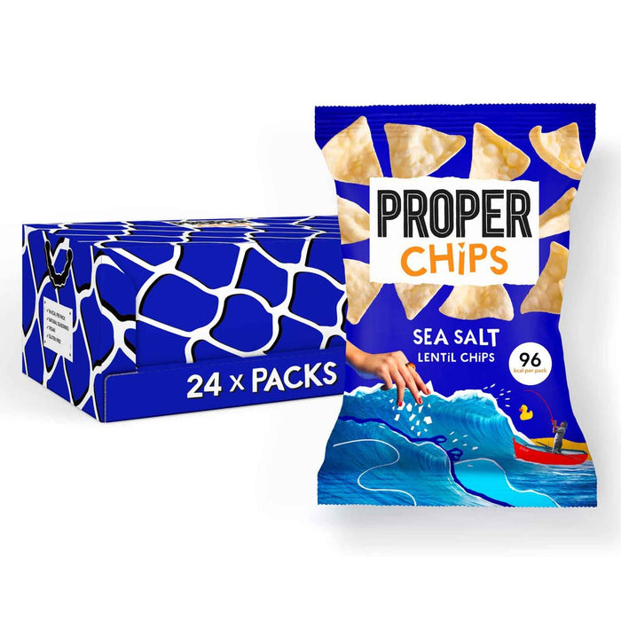 Properchips - Lentil Chips - Sea Salt (24 x 20g)