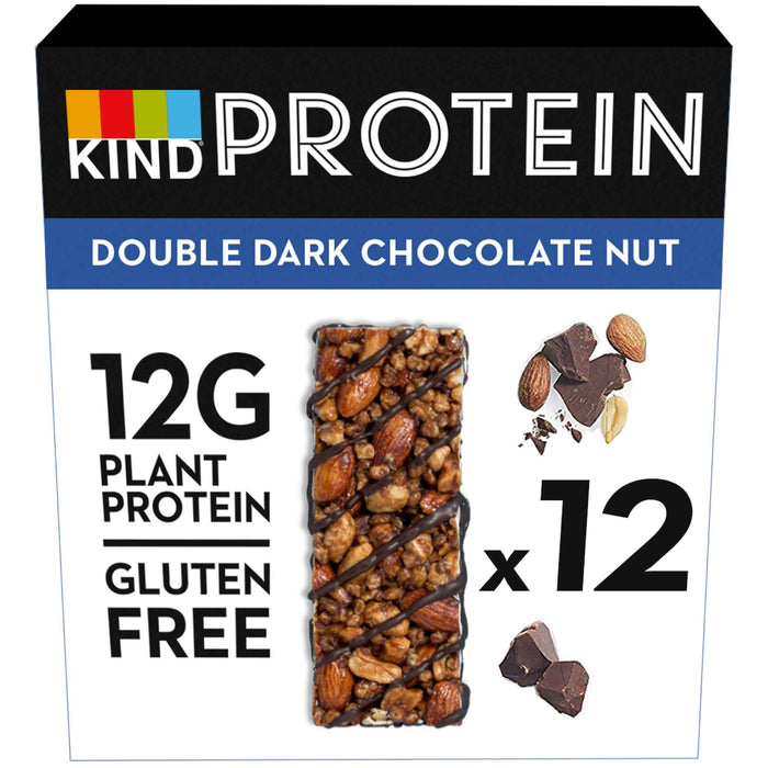 KIND Snacks - Whole Nut Protein Bars - Double Dark Chocolate