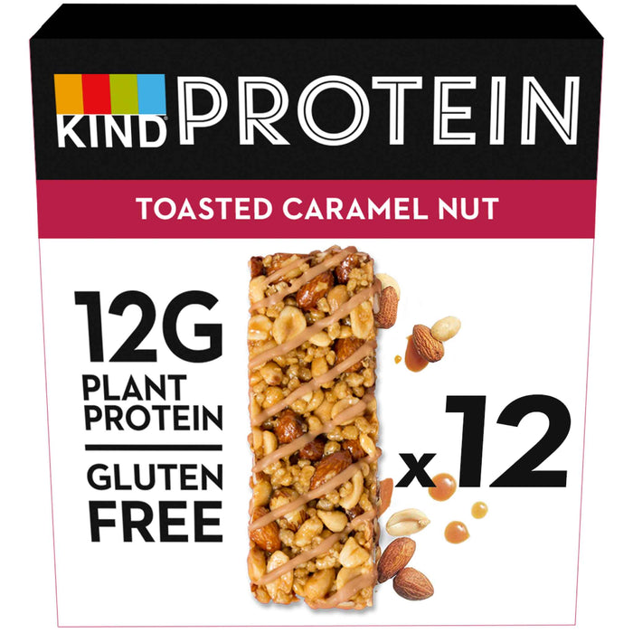 KIND Snacks - Whole Nut Protein Bars - Toasted Caramel Peanut (12 x 50g)