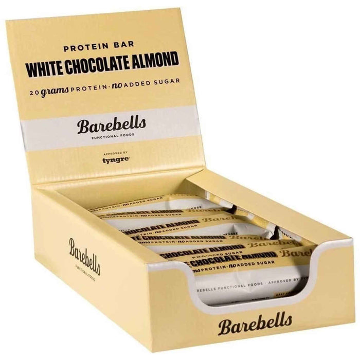Barebells - Protein Bars - White Chocolate Almond (12 x 55g)