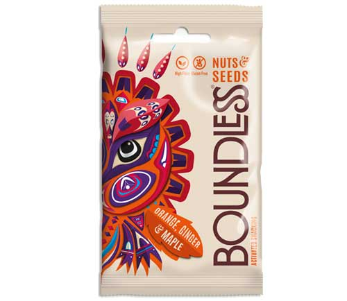 Boundless - Activated Nuts & Seeds Mix - Orange, Ginger & Maple