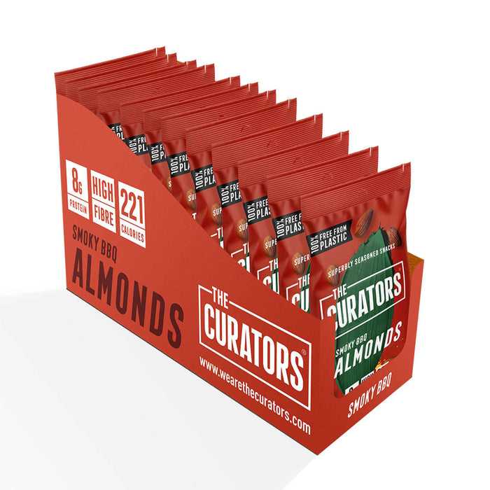 The Curators - Snack Almonds - Smoky BBQ (12 x 35g)