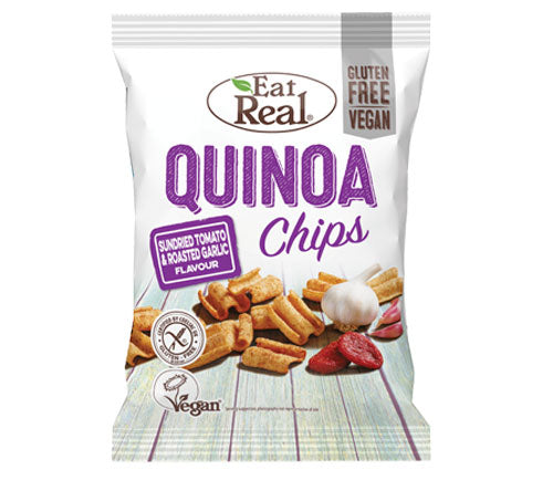 Eat Real - Quinoa Chips Big Bags - Tomato & Garlic (10 x 80g)