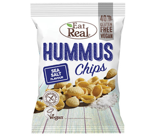 Eat Real - Hummus Chips Big Bags - Sea Salt (10 x 135g)