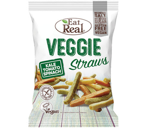 Eat Real - Veggie Straws Big Bags - Kale, Tomato, Spinach (10 x 113g)