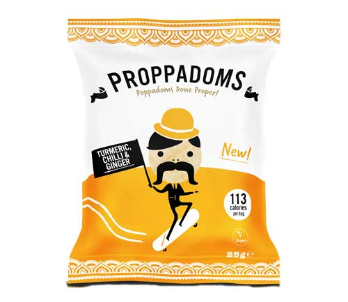 Family Secret - Proppadoms – Turmeric, Chilli & Ginger (12x25g)