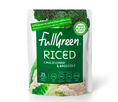 Fullgreen - Microwaveable Cauliflower & Broccoli Rice (6 x 200g)
