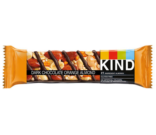 KIND Snacks - Whole Nut Bars -  Dark Chocolate Orange & Almond (12 x 40g)