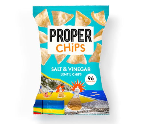 Properchips - Lentil Chips Big Bags - Salt & Vinegar (8 x 85g)
