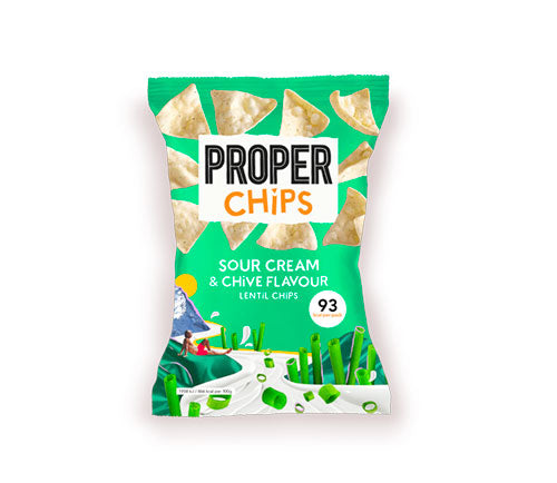 Properchips - Lentil Chips - Sour Cream & Chive (24 x 20g)
