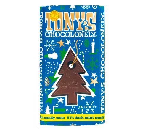 Tony's Chocolonely - Dark Chocolate Mint Candy Cane