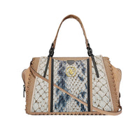 Anaya Boston Handmade Embossed Leather Shoulder Bag - anayabags