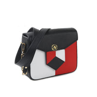 Anaya Boston Handmade Color Blocked Shoulder Bag - anayabags