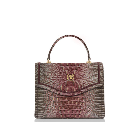 Anaya Boston Handmade Crocodile Leather Crossbody Bag