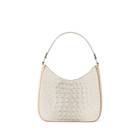 Anaya Boston Handmade Crocodile Leather Women's Beige Tote