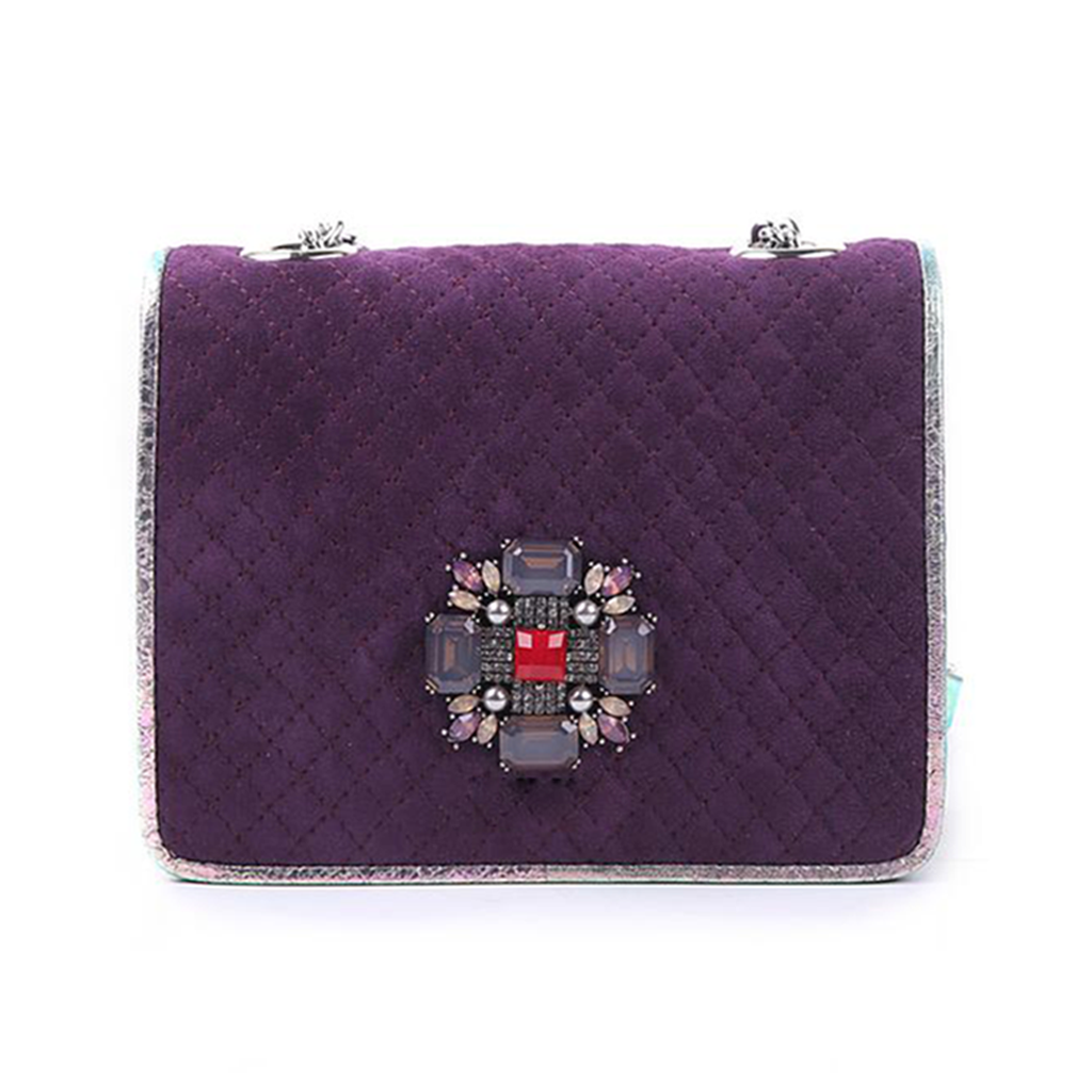 Anaya Boston Handmade Purple Suede Ladies Cross Bag - anayabags
