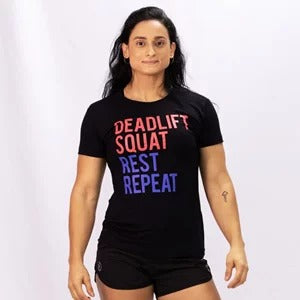 CAMISA FEMININA ONSET FITNESS - DEADLIFT/SQUAT