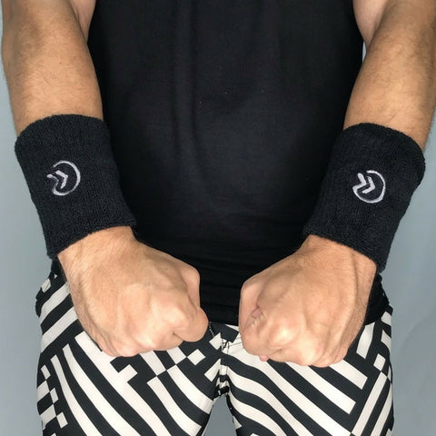 MUNHEQUEIRA ONSET FITNESS TENNIS WRISTBAND - BLACK