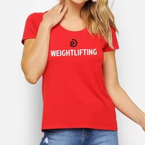 CAMISA FEMININA ONSET FITNESS - WEIGHTLIFTING RED