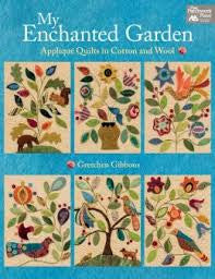 My Enchanted Garden Applique Quilts In Cotton Wool by Gretchen Gibbons