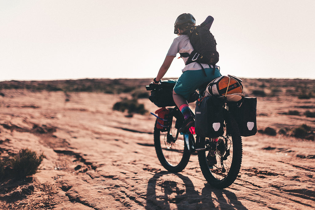 Woman Bikepacking
