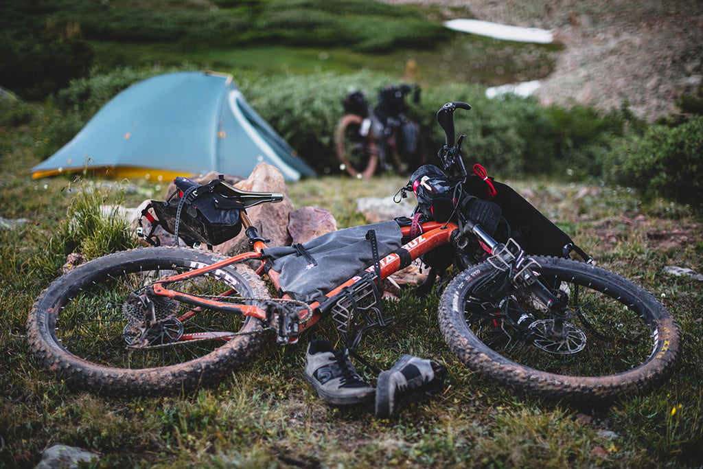 Bikepacking with tent