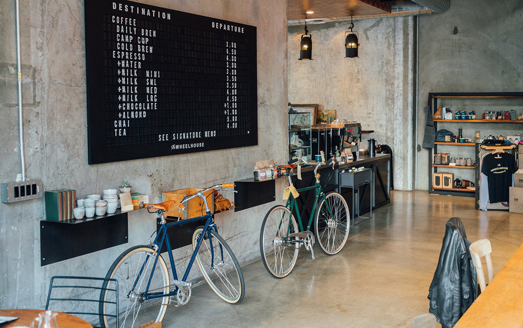 Bikes in Coffee Shop