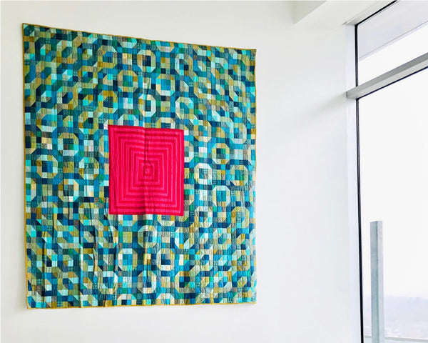 Quilt by Erick Wolfmeyer titled Swim